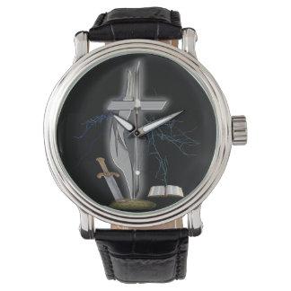 Mercancía cristiana del soldado relojes de pulsera