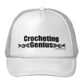Mercancía Crocheting de la DNA del genio Gorras