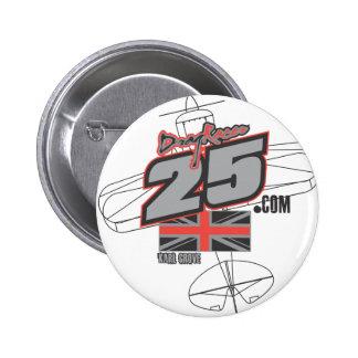 Mercancía de DragRacer25.com de la raza del aire 2 Pins