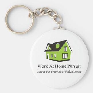 Mercancía de la búsqueda del trabajo en casa llaveros personalizados