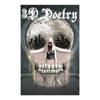 mercancía de la poesía 3D Personalized Stationery