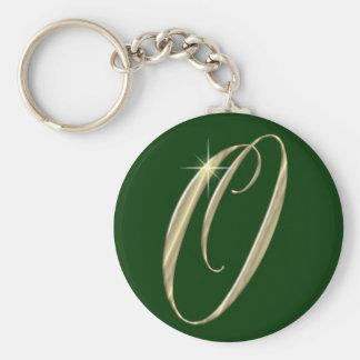 Mercancía de las iniciales del monograma O del oro Llavero Redondo Tipo Pin
