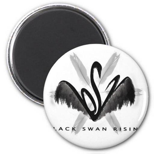 Mercancía de levantamiento del cisne negro imán redondo 5 cm