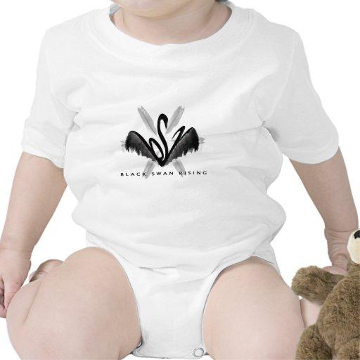 Mercancía de levantamiento del cisne negro trajes de bebé