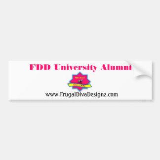 Mercancía de los alumnos de la universidad de FDD Etiqueta De Parachoque