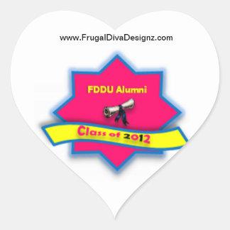 Mercancía de los alumnos de la universidad de FDD Calcomanía De Corazón