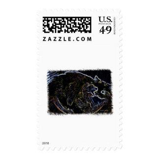 Mercancía de neón del gato persa sello