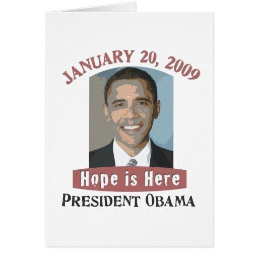 Mercancía de Obama de la inauguración Tarjeta De Felicitación