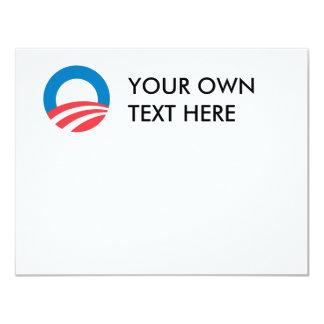 """Mercancía de Obama Invitación 4.25"""" X 5.5"""""""