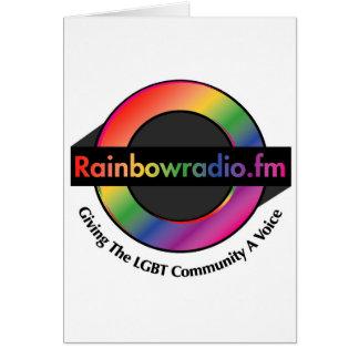 Mercancía de radio de FM del arco iris Tarjeta De Felicitación