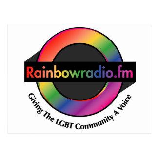 Mercancía de radio de FM del arco iris Tarjeta Postal