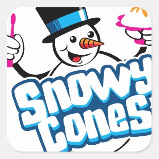 Mercancía de Snowycones Pegatina Cuadrada