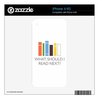 mercancía de WhatShouldIReadNext.com Calcomanía Para El iPhone 4