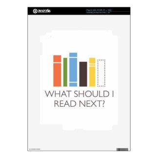 mercancía de WhatShouldIReadNext.com Calcomanía Para El iPad 2