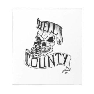Mercancía del condado del infierno libreta para notas