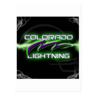 Mercancía del fútbol del relámpago de Colorado Postales