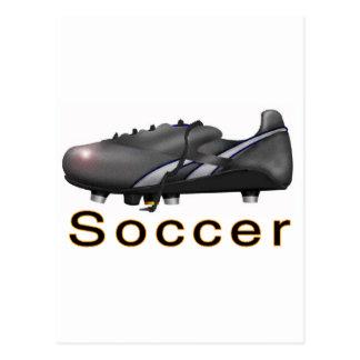 mercancía del fútbol tarjeta postal