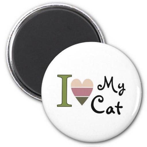 Mercancía del gato imán redondo 5 cm