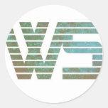 Mercancía del logotipo de las historias de la pegatinas redondas