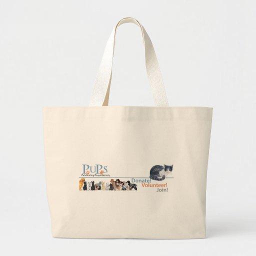 Mercancía del logotipo de los perritos con el gato bolsas