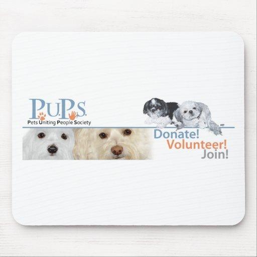 Mercancía del logotipo de los perritos con Shih Tz Tapete De Ratones
