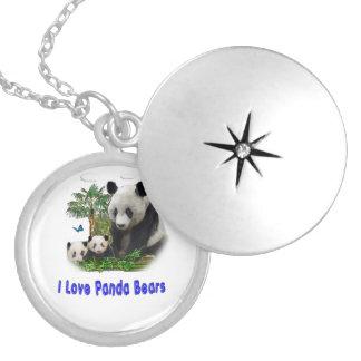 Mercancía del oso de panda medallón
