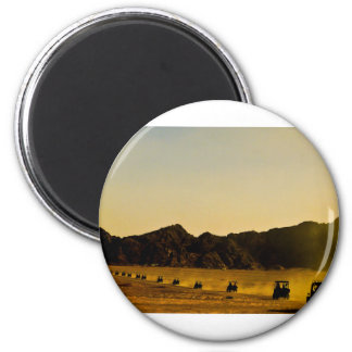 Mercancía egipcia del desierto imán redondo 5 cm