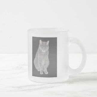 Mercancía gris del gato taza de cristal