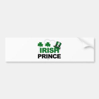 mercancía irlandesa del príncipe pegatina para auto