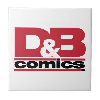 Mercancía oficial de los tebeos de D&B Azulejo Cuadrado Pequeño