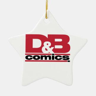 Mercancía oficial de los tebeos de D&B Adorno De Cerámica En Forma De Estrella