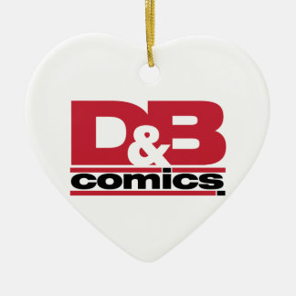 Mercancía oficial de los tebeos de D&B Adorno De Cerámica En Forma De Corazón