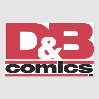 Mercancía oficial de los tebeos de D&B Pegatina Rectangular