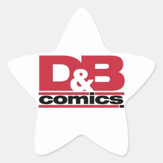 Mercancía oficial de los tebeos de D&B Pegatina En Forma De Estrella