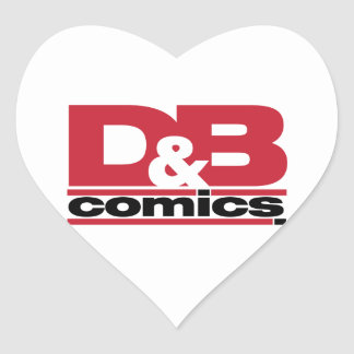 Mercancía oficial de los tebeos de D&B Pegatina En Forma De Corazón