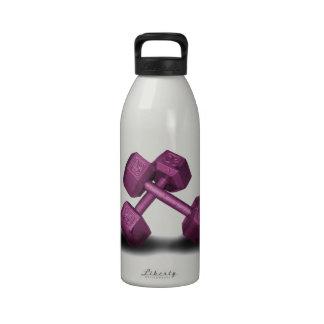 Mercancía rosada de las pesas de gimnasia botellas de beber