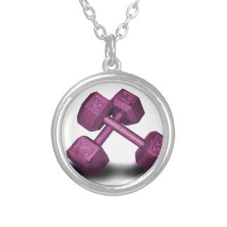 Mercancía rosada de las pesas de gimnasia grimpola personalizada