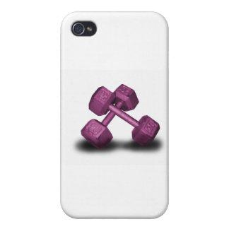 Mercancía rosada de las pesas de gimnasia iPhone 4 cárcasa