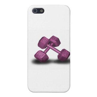 Mercancía rosada de las pesas de gimnasia iPhone 5 protector
