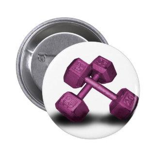Mercancía rosada de las pesas de gimnasia pins