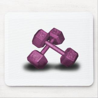 Mercancía rosada de las pesas de gimnasia tapetes de raton