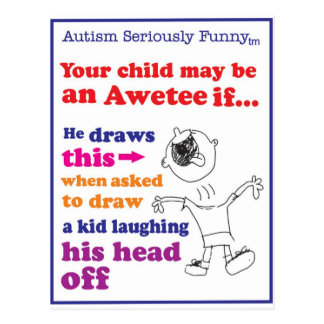 Mercancía seriamente divertida del autismo postales