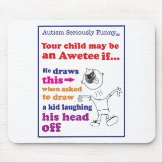 Mercancía seriamente divertida del autismo tapetes de raton