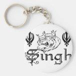 Mercancía sikh de Khanda Khalsa del Punjabi Llaveros Personalizados