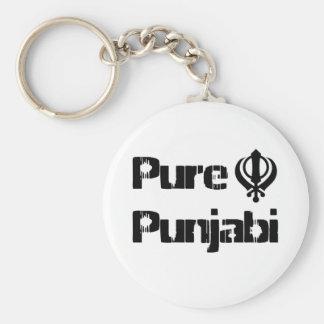 Mercancía sikh del diseño de Khanda Khalsa del Pun Llavero Redondo Tipo Pin