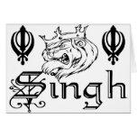Mercancía sikh del diseño de Khanda Khalsa del Pun Tarjetón