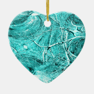 Mercancía temática del fractal del miembro de adorno de cerámica en forma de corazón