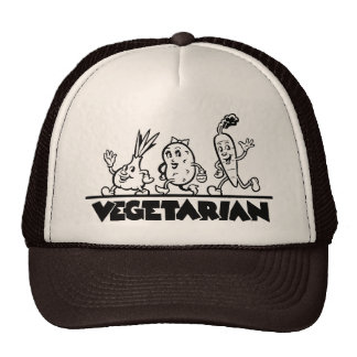 Mercancía vegetariana gorras de camionero