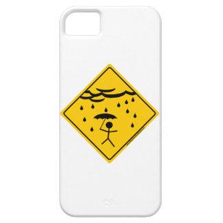 Mercancía y ropa de la advertencia del tiempo de iPhone 5 protectores