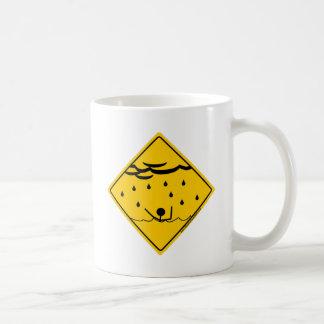 Mercancía y ropa de la advertencia del tiempo de l tazas de café